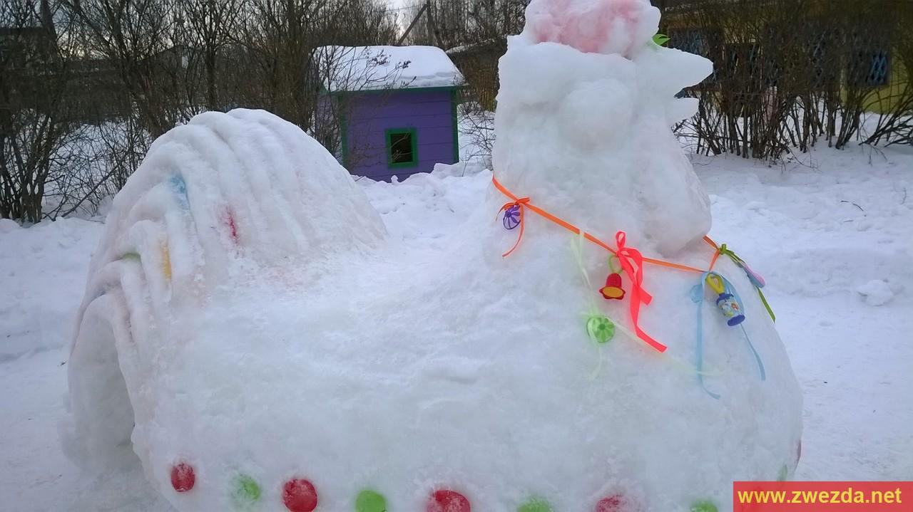 Снежные фигуры своими руками пошагово